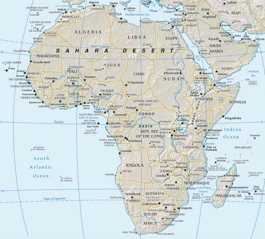 africa532x480.jpg - map of Africa