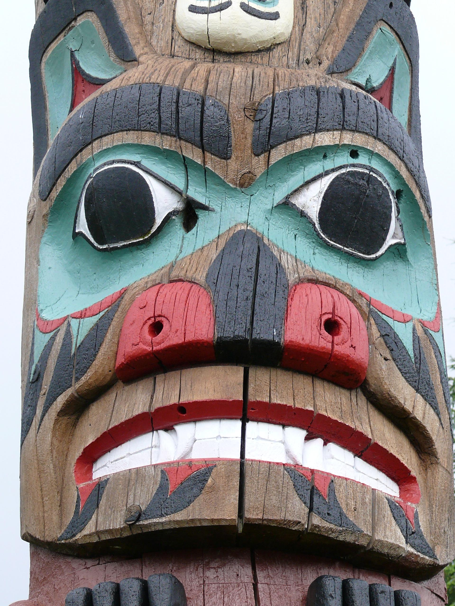 Totem Pole Faces
