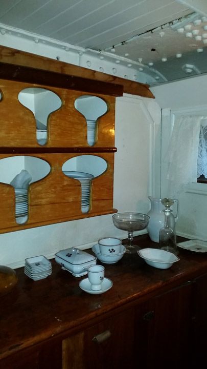 Dinnerware storage on the Star of India & Dinnerware storage on the Star of India | Pics4Learning