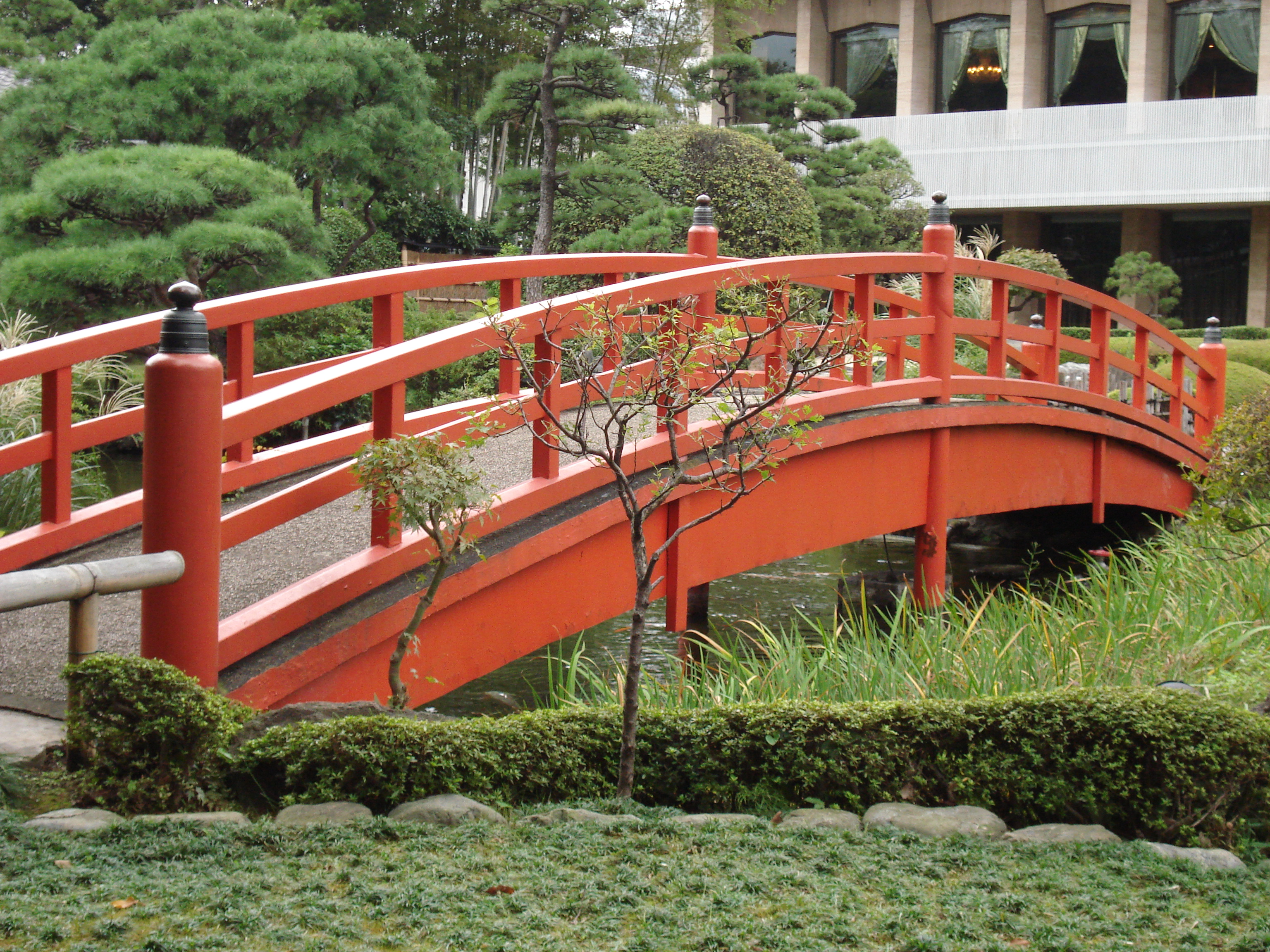 bridge in a japanese garden - Red Japanese Garden Bridge