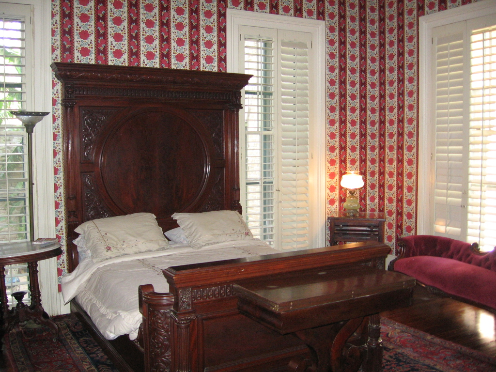 Antique furniture at La Borde House