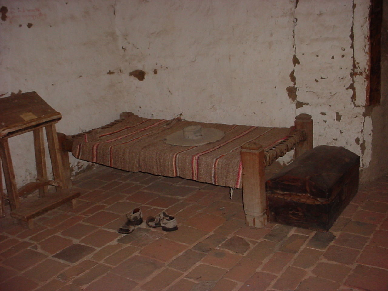 Padres Bed at Mission San Miguel Arcangel