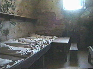 Beds for soldiers in the Old Fort St. Augustine, Florida