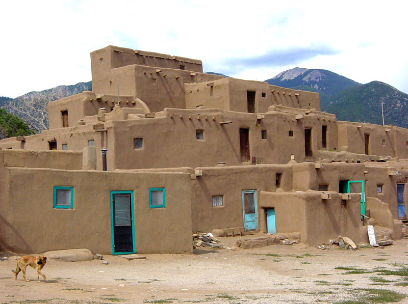 The Houses Are Built Of Adobe Sun Dried Mud Brick With