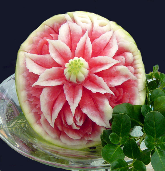 Thai fruit carving watermelon pics learning