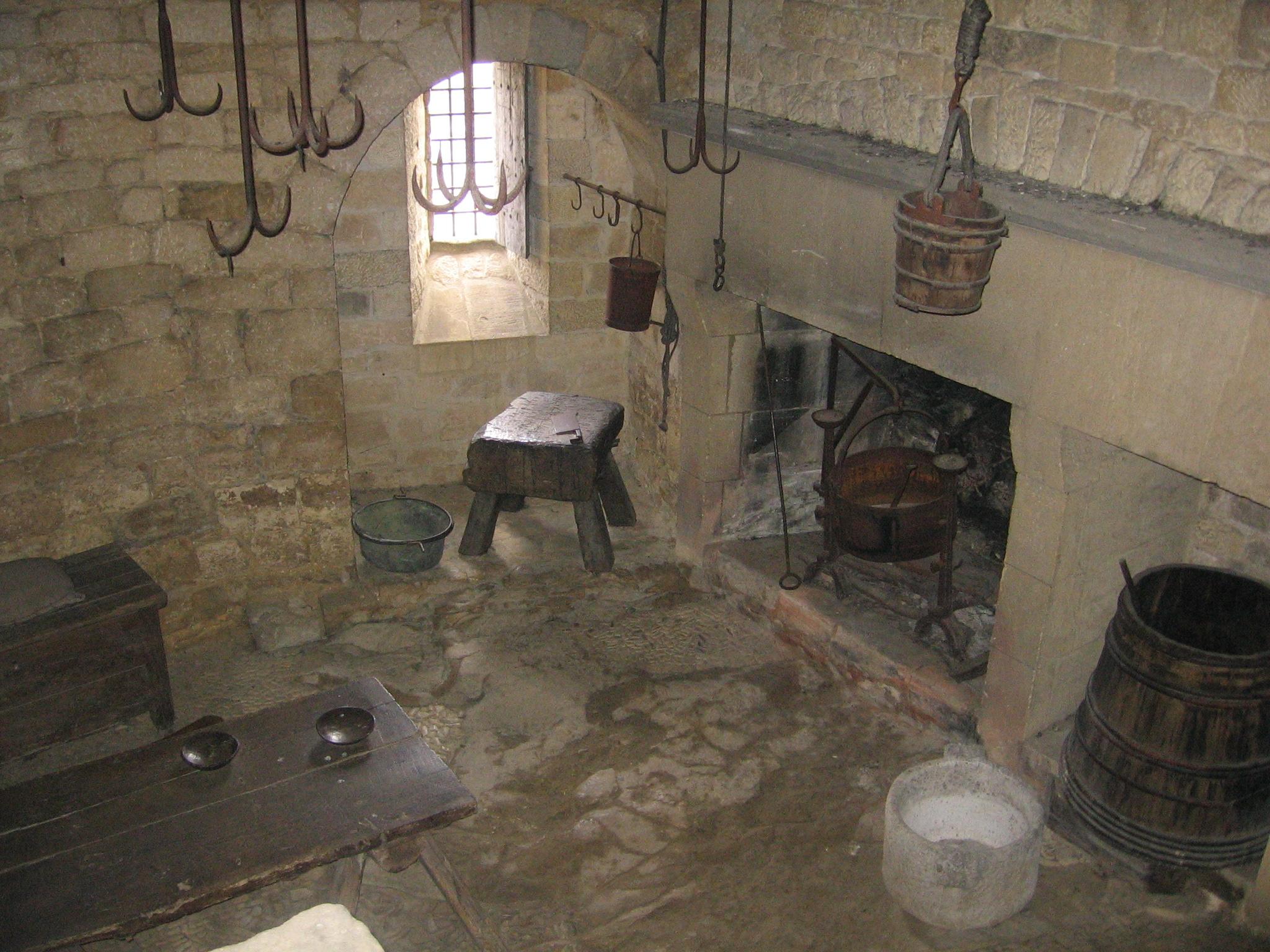 Medieval Kitchen At Beynac Castle