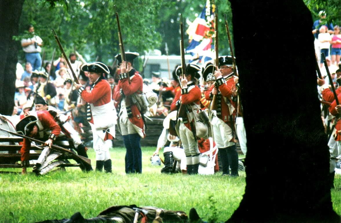 British Regulars make ready