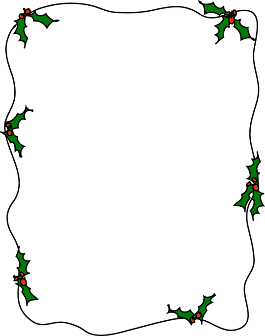 holly border for 8 5 x 11 paper pics4learning