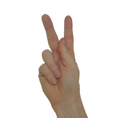 American Sign Language Letter K Pics4learning