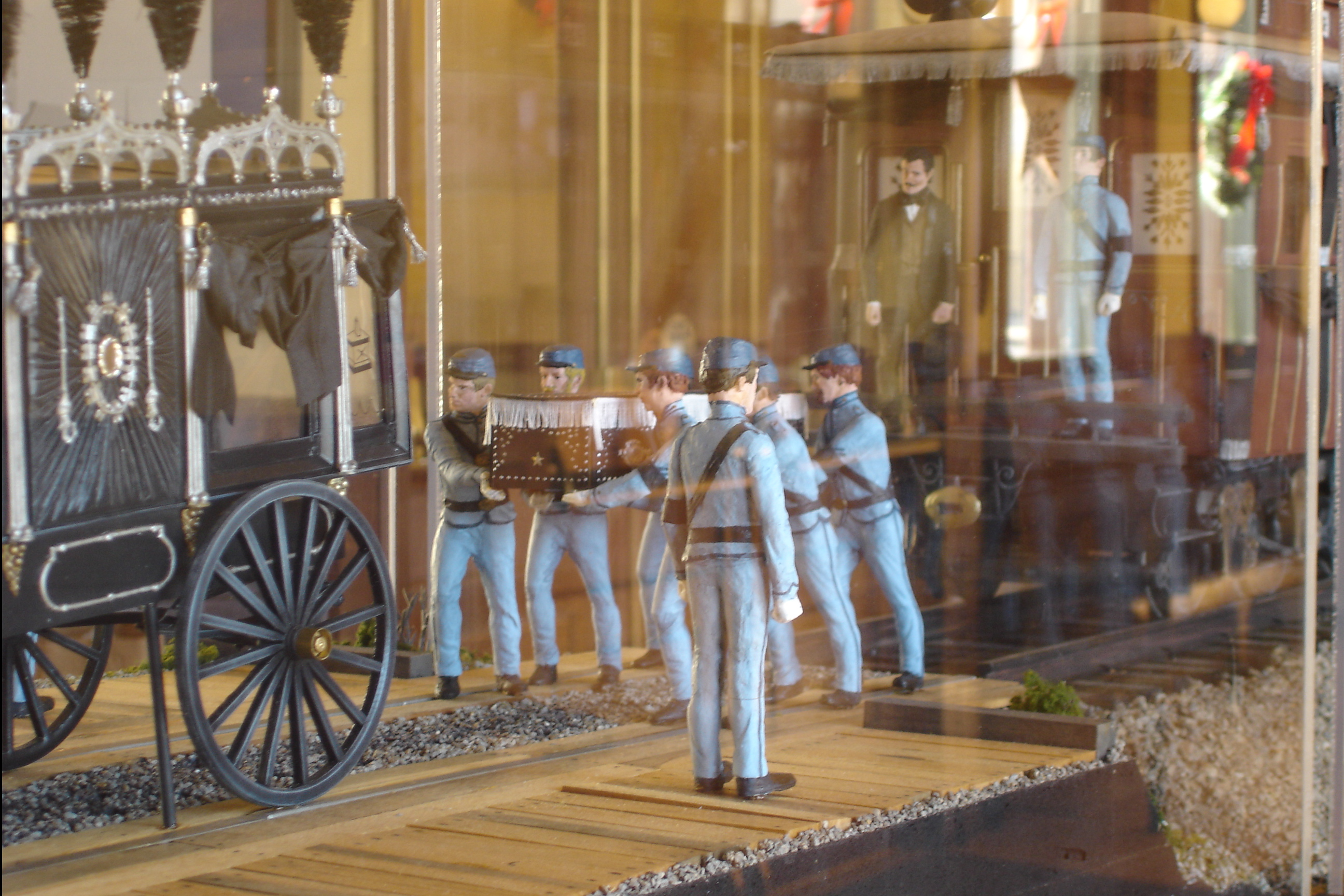 Lincoln Funeral Train Model Pics4learning