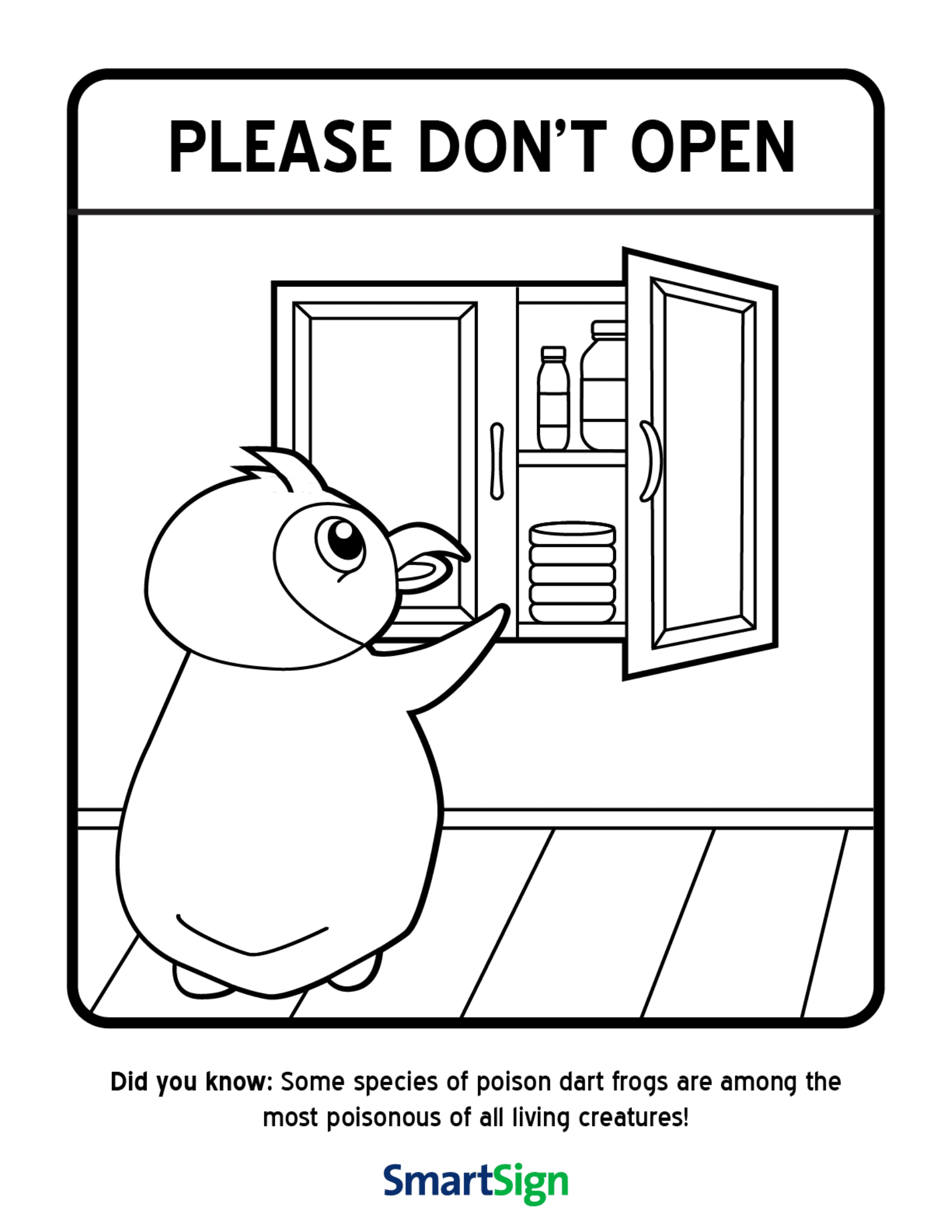 computer safety coloring pages free | Safety Coloring Printable for Kids - Do not open the ...