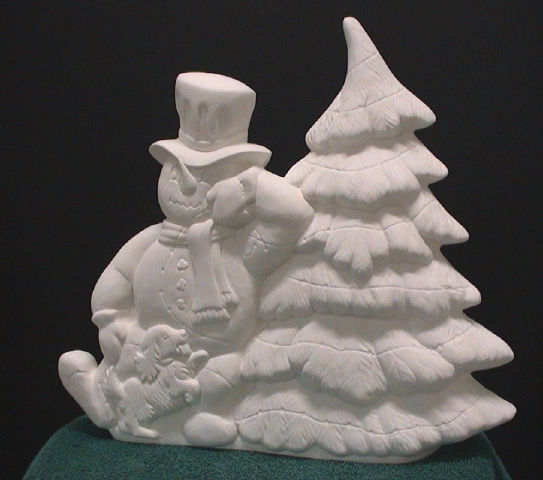 Ceramic Snowman And Christmas Tree Pics4learning