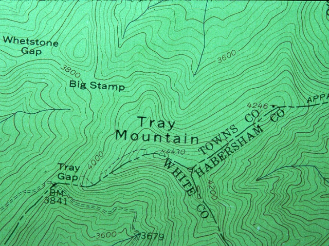 Detail Of A Topographic Map Show Contour Lines And Mountains